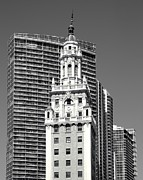 Brick Building Prints - Freedom Tower Print by Rudy Umans