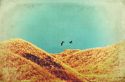 Greylag Prints - Freedom Vintage Print by Angela Doelling AD DESIGN Photo and PhotoArt