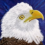 Eagle Painting Framed Prints - Freedoms Hope Framed Print by Vicki Maheu