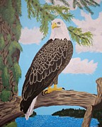 Eagle Painting Framed Prints - Freedoms Pride Framed Print by Vicki Maheu