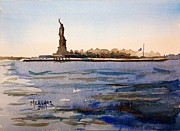 Liberty Paintings - Freedoms Silhouette II by Spencer Meagher