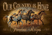 Rodeo Metal Prints - Freedon Reigns Metal Print by JQ Licensing