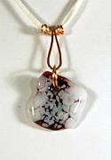 Abstract Jewelry Originals - Freeform Glass and Copper Pendant GP06091203 by P Russell