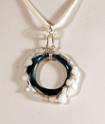 Abstract Jewelry Originals - Freeform Glass Pendant GP06091204 by P Russell