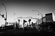 Freemont Photos - freemont east district downtown Las Vegas Nevada USA by Joe Fox