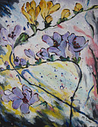 Maggie Turner - Freesia Flower Painting