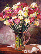 David Lloyd Glover - Freesias In Crystal...