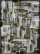 Asymmetrical Digital Art Prints - Freeway Park 10 Print by Tim Allen