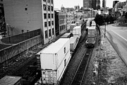 Goods Prints - freight train goods tracks Vancouver BC Canada Print by Joe Fox