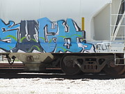 Rivets Art - Freight Train Graffiti 6 by Anita Burgermeister