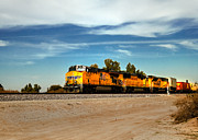 Railway Transportation Framed Prints - Freight Train Framed Print by Robert Bales