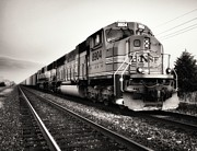 Naturalistic Prints - Freight Train Print by Tom Druin