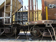 Rivets Art - Freight Train Wheels 10 by Anita Burgermeister
