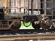Rivets Art - Freight Train Wheels 13 by Anita Burgermeister