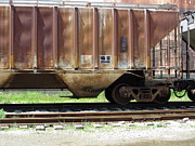 Rivets Art - Freight Train Wheels 14 by Anita Burgermeister