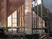 Rivets Art - Freight Train Wheels 15 by Anita Burgermeister