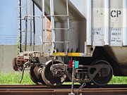 Rivets Art - Freight Train Wheels 9 by Anita Burgermeister