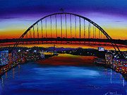 Fremont Bridge At Dusk 5 Print by James Dunbar
