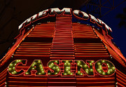 Fremont Street Prints - Fremont Casino Print by David Lee Thompson