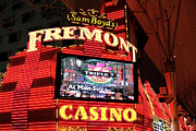 The Strip Framed Prints - Fremont Casino Framed Print by John Rizzuto