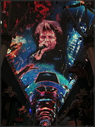 Singer Songwriter Digital Art - Fremont Street Experience by Kay Novy