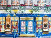 Bistro Paintings - French Bistro by Danielle Colucci