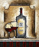 Lifestyle Painting Originals - FRENCH BORDEAUX Original MADART Painting by Megan Duncanson