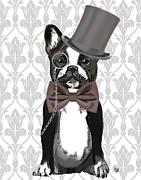 French Bulldog Monsieur Bulldog Print by Kelly McLaughlan
