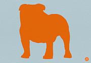 French Bulldog Orange Print by Irina  March