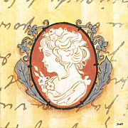 Words Painting Prints - French Cameo 2 Print by Debbie DeWitt