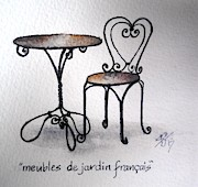 Sandra Phryce-Jones - French chair and table