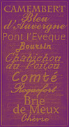 Basement Art Posters - French Cheeses - 3 Poster by Paulette Wright