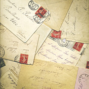 French Correspondence From Ww1 #1 Print by Jan Bickerton
