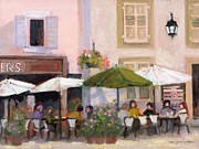 European Cafes Prints - French Country Cafe Print by J Reifsnyder