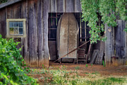 Old Wood Building Photos - French Countryside by Joan Carroll