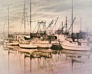 Delicate Metal Prints - French Creek Harbour Metal Print by Janice Austin