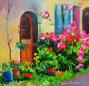 French Door Paintings - French Door by Vicki Brevell