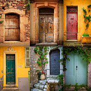 Weathered Houses Posters - French Doors Poster by Inge Johnsson