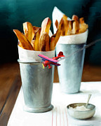 French Fries Metal Prints - French Fries Fly-By Metal Print by Snake Jagger