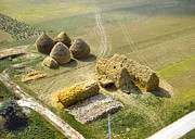 Bailing Hay Photos - French Haystacks by Chuck Staley