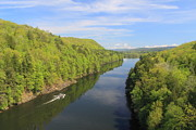 Connecticut Prints - French King Gorge Connecticut River Spring Boater Print by John Burk
