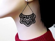 Silhouettes Jewelry - French Lace Romantic chandelier earrings by Rony Bank