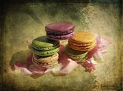 Assorted Digital Art Posters - French Macarons 2 Poster by Barbara Orenya