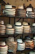 French Market Hats Print by Brenda Bryant