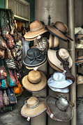 Apparel Framed Prints - French Market Hats for Sale Framed Print by Brenda Bryant