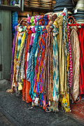 Colorful Clothing Framed Prints - French Market Scarves Framed Print by Brenda Bryant
