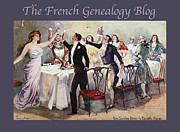 Genealogy Photo Framed Prints - French New Year with FGB border Framed Print by A Morddel