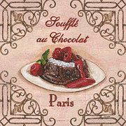 Coffee Shop Painting Posters - French Pastry 2 Poster by Debbie DeWitt