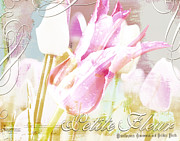 Online Flower Shop Prints - French Pink Tulip Garden Print by AdSpice Studios