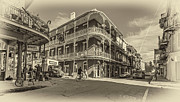 New Orleans Oil Photos - French Quarter Afternoon sepia by Steve Harrington